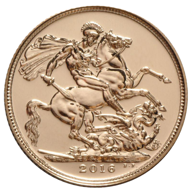 2016 Queen Elizabeth II Gold Full Sovereign