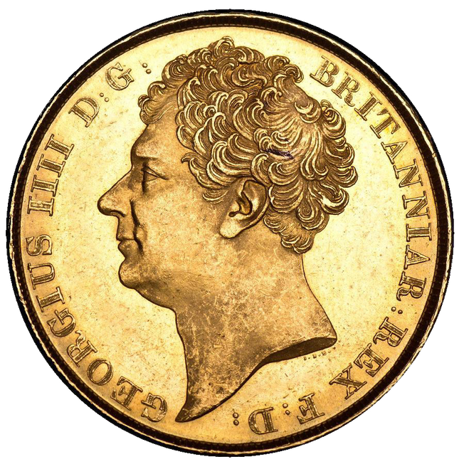 1823 George IV Two-Pound Coin
