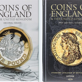 In two volumes of over 700 pages, the 2018 edition is an invaluable guide to market prices and availability of every British coin, dating back to the earliest Celtic coins. Order from Josephine Coins to get your Spink's 2018 two-volume reference set today for only £27.99 from our gift shop or by calling us on 020 8115 3997