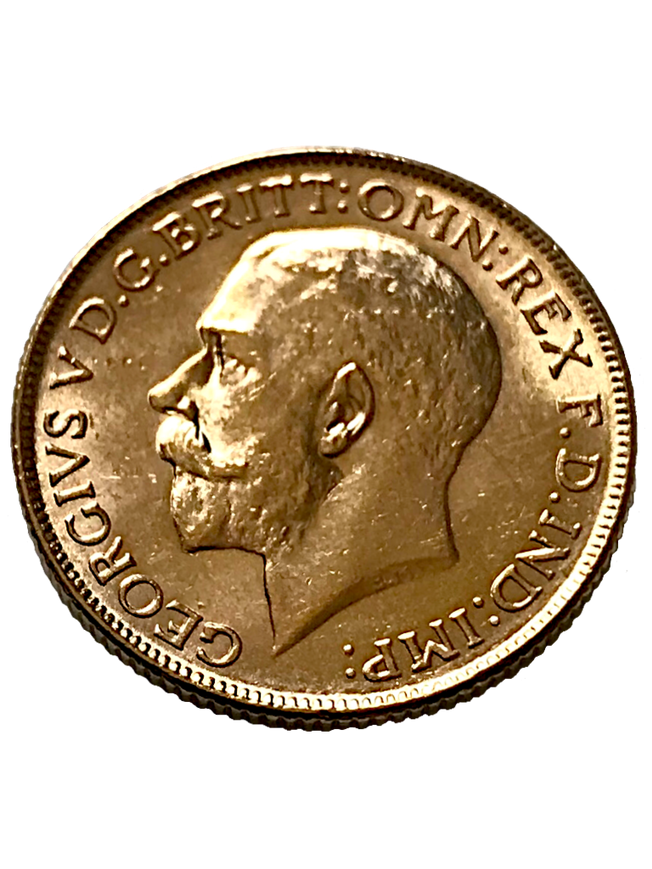 1918 George V Full Gold Sovereign India