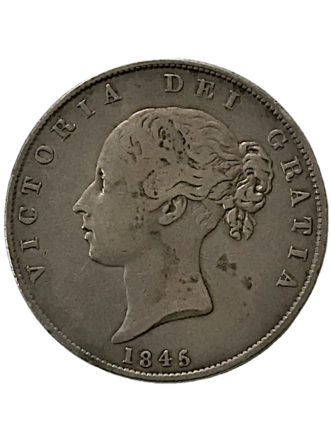 1845/3 Queen Victoria Half Crown