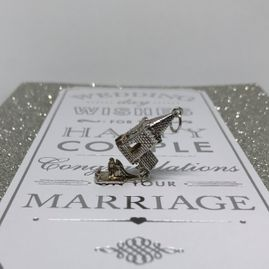 Church charm in Sterling Silver for wedding and Engagement