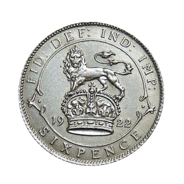 "Josephine Coins ""Lucky"" Silver Sixpence"