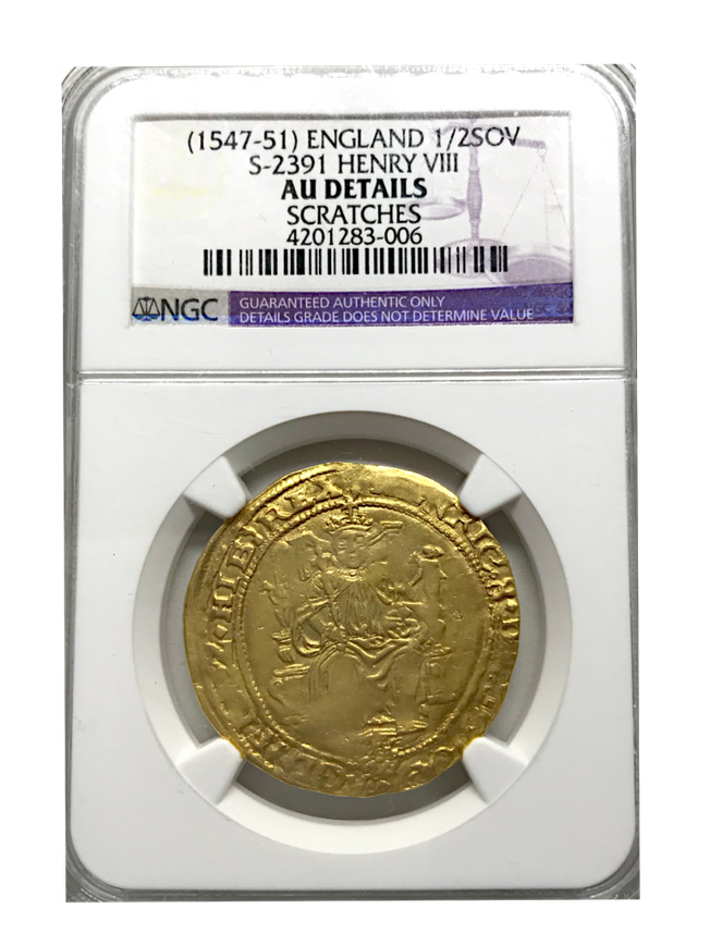 Henry VIII Half Sovereign (1547-1551) AU