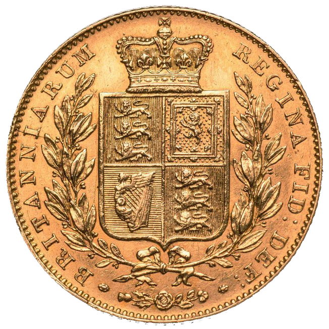 1838 Young Victoria Sovereign
