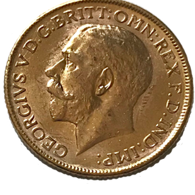 1911 George V Full Gold Sovereign Canada