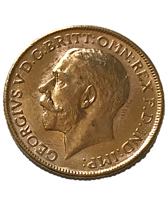 1913 George V Full Gold Sovereign Melbourne
