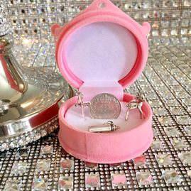 Gift boxed New baby/Christening Lucky Sixpence gift set